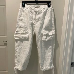 For the republic linen cropped pants white size 2P
